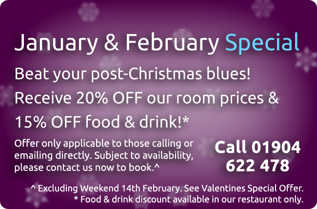 York Hotel Jan Feb Deals